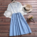 Two Pieces Set Matching TShirt and Dress <2 styles to choose> - Kawaii Treats