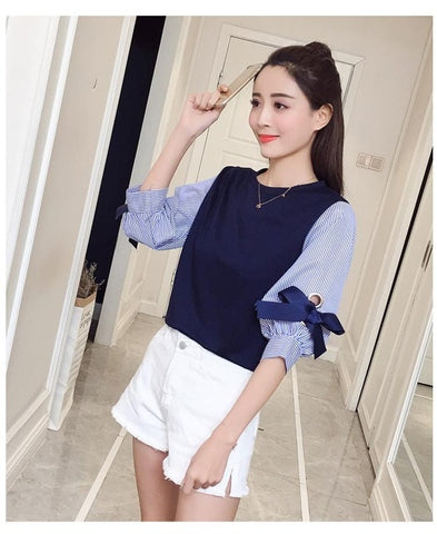 Bow Casual Pullovers <4 Colors>