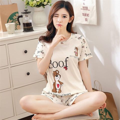 Cartoon Printed Thin Sleepwear <20 Styles>