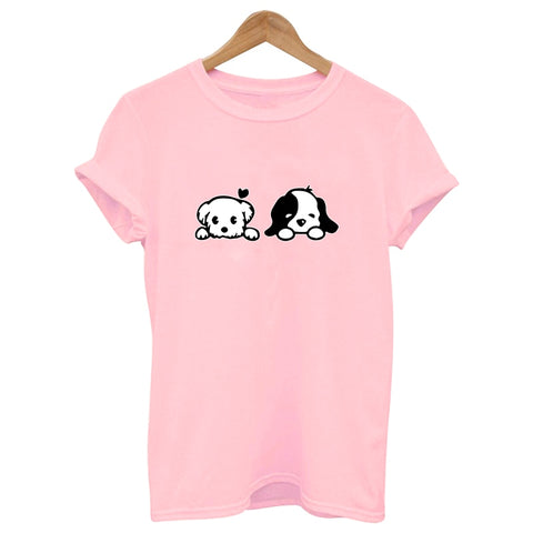 DOGGIE Cotton Tshirt <5 colors> - Kawaii Treats