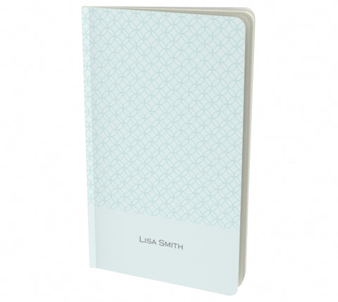 personalized mint notebook