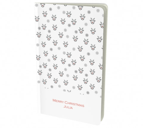 merry christmas white notebook