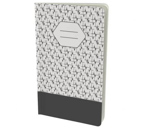 black and grey notebook