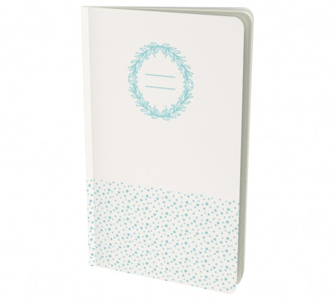 white notebook with dots