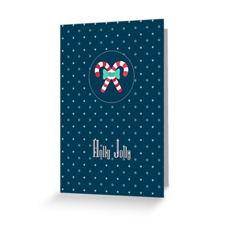 Sweet candy cane greeting card for Christmas