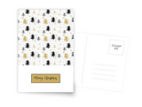 Christmas greeting card  - black & gold
