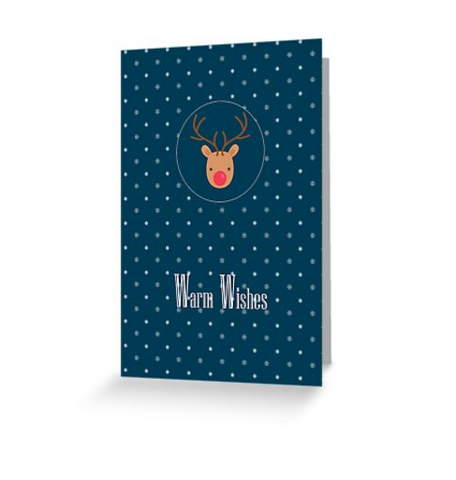 Best wishes card with Rudolf