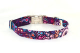 Effervescence Boysenberry Adjustable Dog Collar - Fox Valley Dog Collars