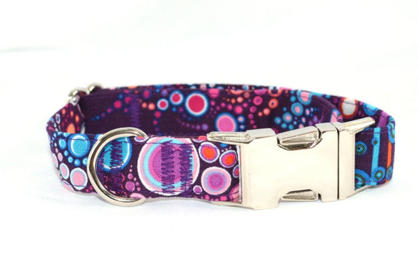 Effervescence Boysenberry Adjustable Dog Collar