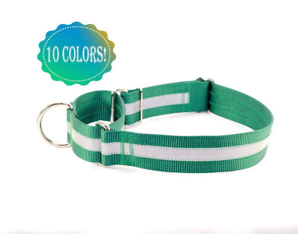"1.5"" Reflective Martingale Dog Collar - Fox Valley Dog Collars"
