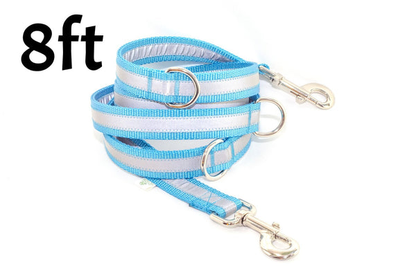 Multi Function Reflective Leash - 8 Feet Long - Fox Valley Dog Collars