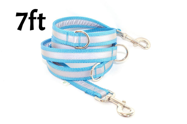 Multi Function Reflective Leash - 7 Feet Long - Fox Valley Dog Collars