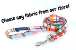 Choose-a-Fabric Leash - Fox Valley Dog Collars
