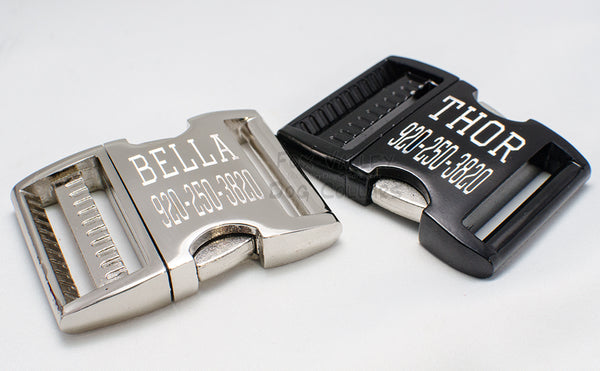 Engraved Aluminum Buckle - Fox Valley Dog Collars