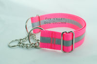 "1.5"" Reflective Chain Martingale Dog Collar - Fox Valley Dog Collars"