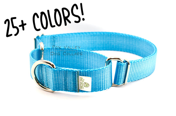 Solid Color Martingale Dog Collar - Fox Valley Dog Collars