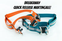Semi-BREAKAWAY Reflective Quick Release Martingale Dog Collar - Fox Valley Dog Collars