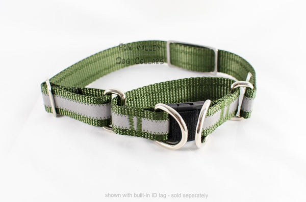 Semi-BREAKAWAY Reflective Martingale Dog Collar - Fox Valley Dog Collars