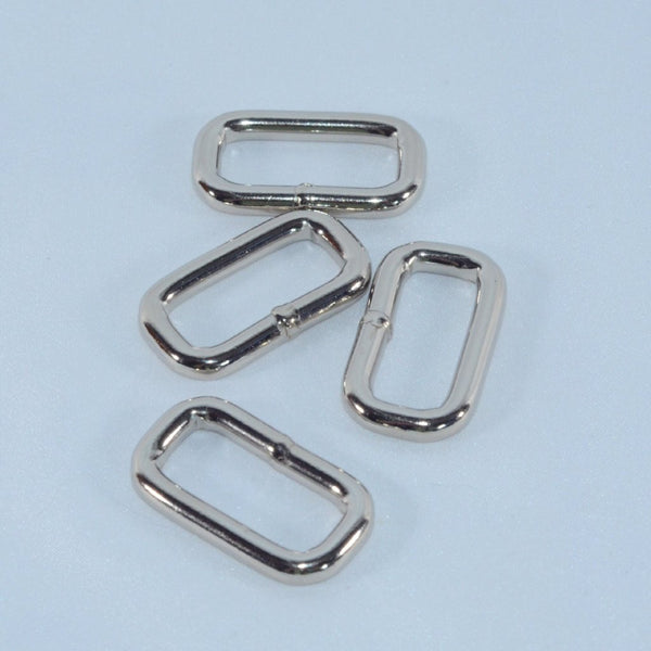 Welded Rectangle Rings for martingale collars - 7 sizes - Fox Valley Dog Collars