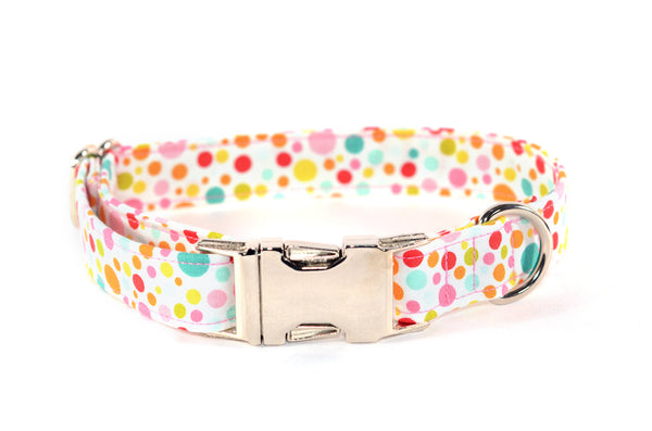 Candy Dots Adjustable Dog Collar - Fox Valley Dog Collars