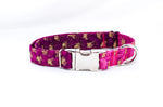 Metallic Gradient in Pink Adjustable Dog Collar - Fox Valley Dog Collars