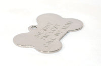 Bone Shaped Stainless Steel Pet ID Tag - by Boomerang - Fox Valley Dog Collars