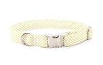 Gold Metallic CrissCross Adjustable Dog Collar - Fox Valley Dog Collars