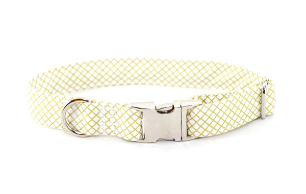 Gold Metallic CrissCross Adjustable Dog Collar