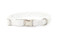 Silver Metallic CrissCross Adjustable Dog Collar