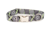 Science Geek - Atoms - DNA - Adjustable Dog Collar - Fox Valley Dog Collars