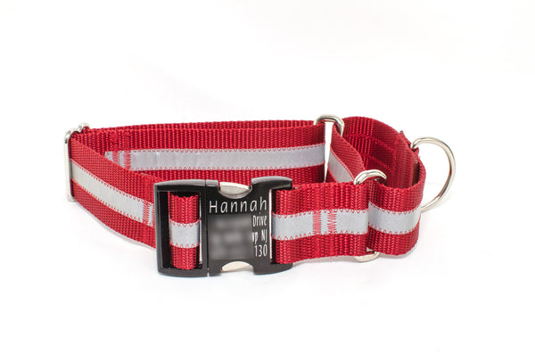"1.5"" Reflective Quick Release Martingale - Fox Valley Dog Collars"