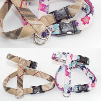 "Choose-A-Fabric 5/8"" or 3/4"" Cat or Rabbit Harness, H-style - Fox Valley Dog Collars"