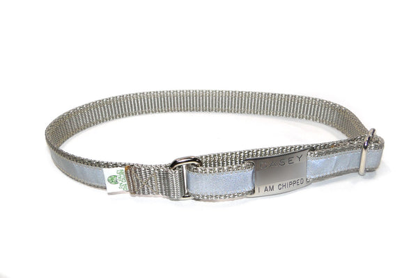 Adjustable Tag Collar - reflective or solid - Fox Valley Dog Collars