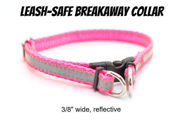 "3/8"" Reflective BreakAway Dog Collar - 14 colors - Fox Valley Dog Collars"