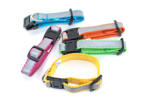 "XS Reflective 5/8"" Extra Wide Breakaway Cat Collar - Fox Valley Dog Collars"