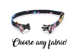 "3/8"" Choose-a-Fabric BreakAway Dog Collar - for small dogs - Fox Valley Dog Collars"