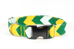 Titletown Chevron Adjustable Dog Collar - Fox Valley Dog Collars