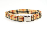 Autumn Colors Plaid adjustable dog collar, medium - Fox Valley Dog Collars