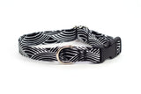 Monochrome Geometric adjustable dog collar, small - Fox Valley Dog Collars