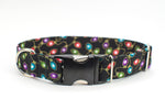 Christmas Lights, Metallic Adjustable Dog Collar - Fox Valley Dog Collars