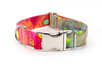 LAST ONE - Tie Dye Dots adjustable dog collar, medium