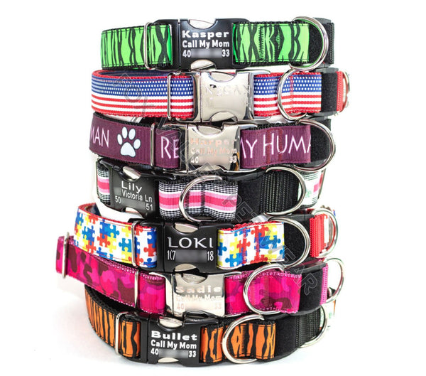 "Choose-a-Print 1"" BreakAway Dog Collar with Optional Personalization - Fox Valley Dog Collars"