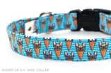 Frenchie Delight adjustable dog collar, medium - Fox Valley Dog Collars