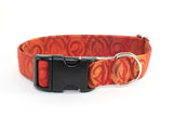 "Dragon Fire adjustable dog collar, 1"" Large - Fox Valley Dog Collars"