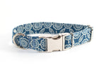 Blue Denim Designs adjustable dog collar, small & large