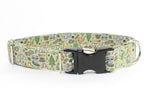 Gone Camping adjustable dog collar, medium
