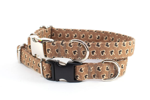 Lovely Spades adjustable dog collar, small