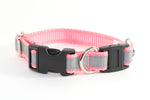 "Reflective Light Pink Breakaway Collar - 3/4"" wide 9-12"" - Fox Valley Dog Collars"