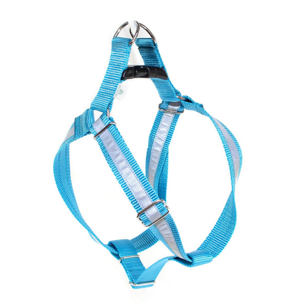 Reflective Ice Blue Step-In Harness - Medium - Fox Valley Dog Collars