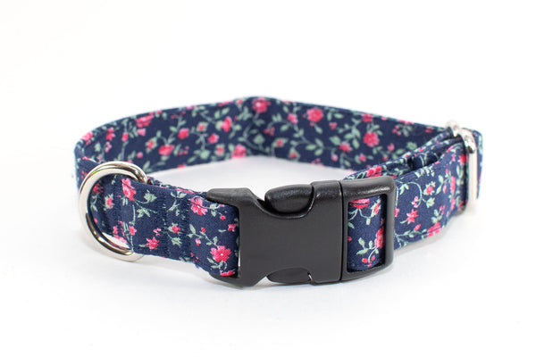 "Rosebud adjustable dog collar, plastic buckle, 3/4"" small - Fox Valley Dog Collars"